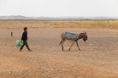 nomads in sahara desert of morocco