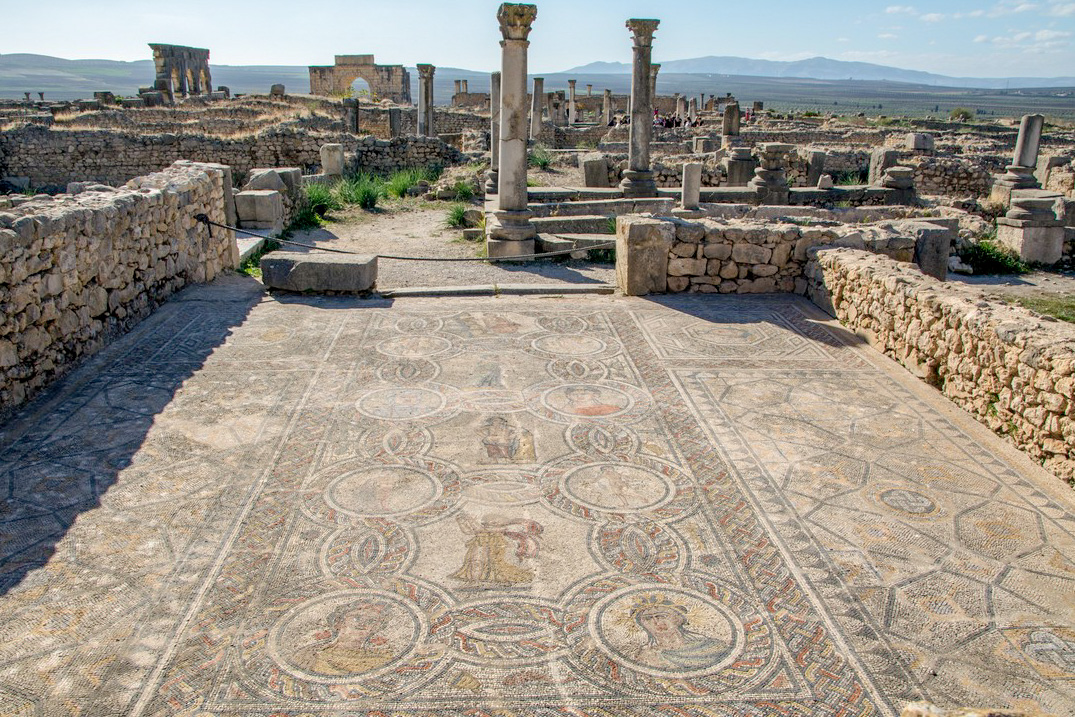 Volubilis an archaeological site near the city of Meknes, Morocco