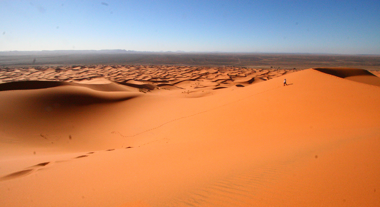 big sand dunes of erg chebbi in merzouga morocco