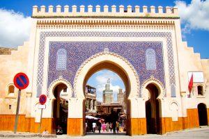Bab Boujloud gate of Fez Medina, Morocco
