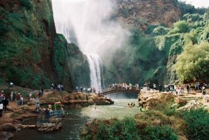visit ouzoud water-falls in the atlas mountains in morocco